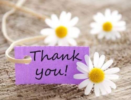 Sending Thanks